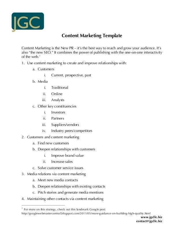 "Content Marketing TemplateContent Marketing is the New PR – it's the best way to reach and grow your audience. It'salso ""t..."