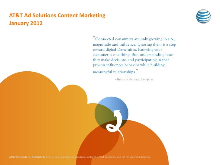 AT&T Ad Solutions Content MarketingJanuary 2012                                                                           ...