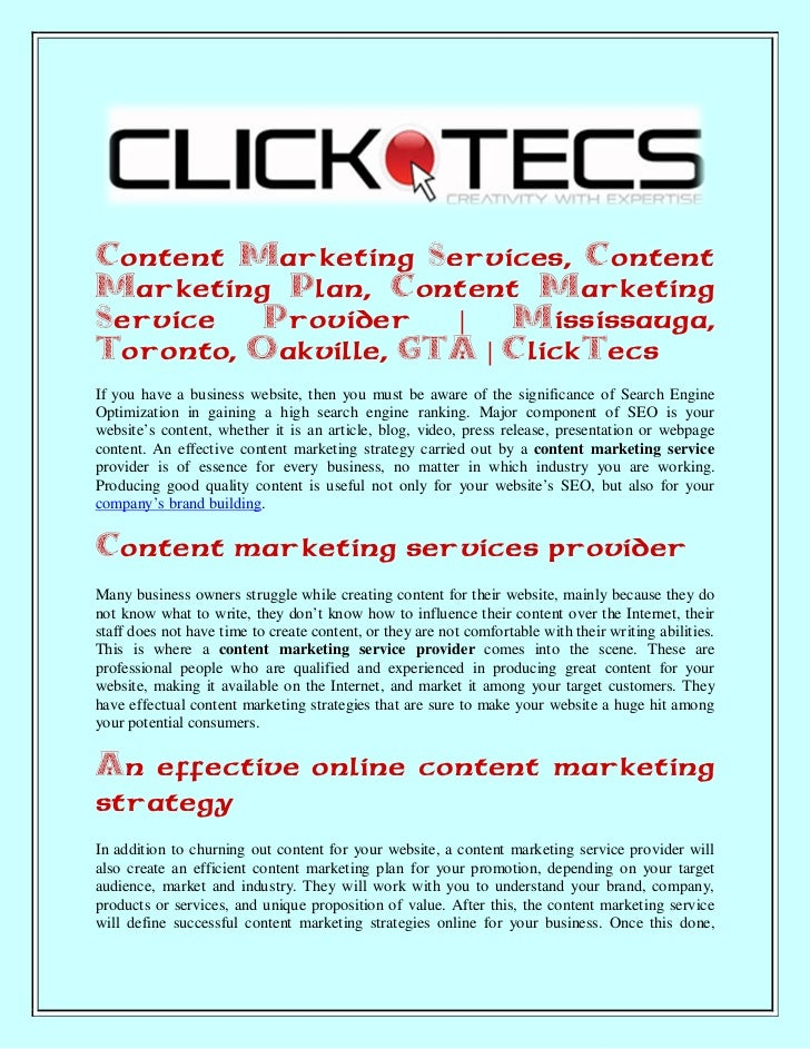 Content Marketing Services, ContentMarketing Plan, Content MarketingService   Provider   |   Mississauga,Toronto, Oakville...