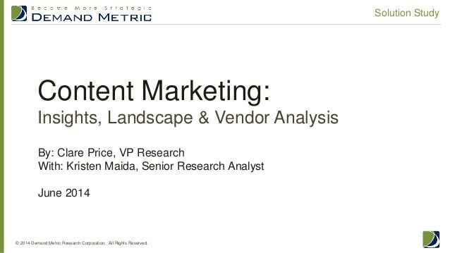 Content Marketing Solution Study