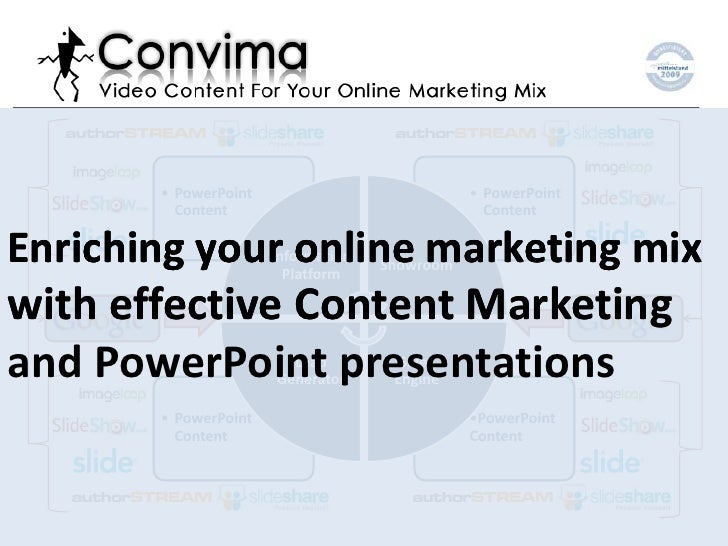 Tutorial: Effective Content Marketing with PPT presentations