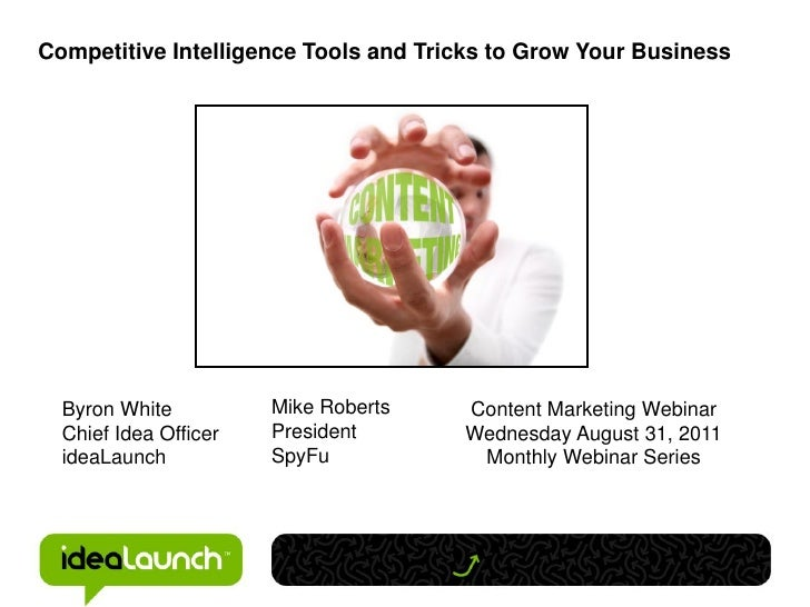 Critical Competitive Intelligence Tools and Tricks - August 2011