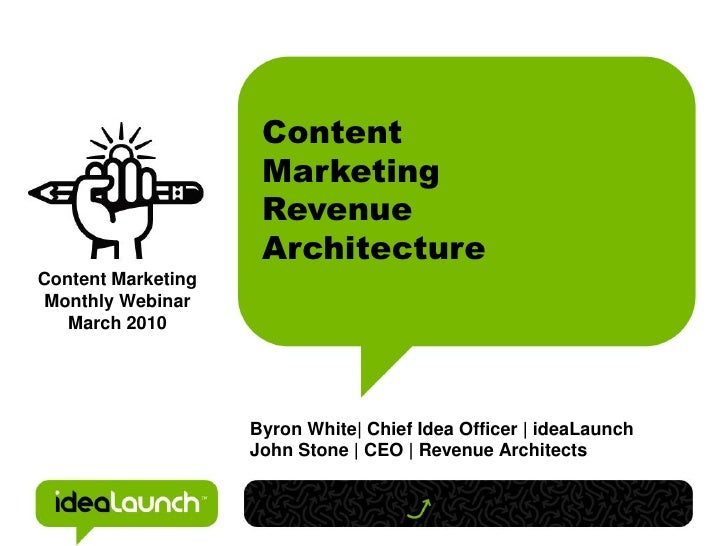 Content                     Marketing                     Revenue                     ArchitectureContent Marketing Monthl...