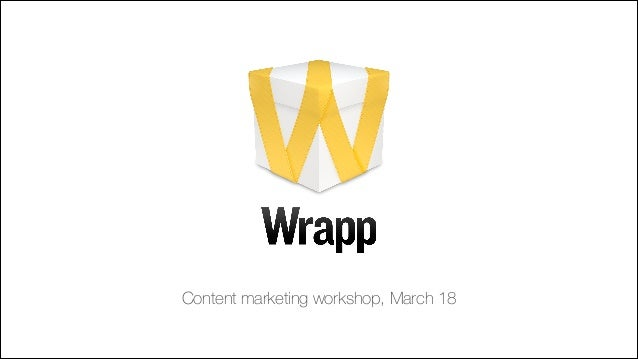 Content marketing workshop, March 18