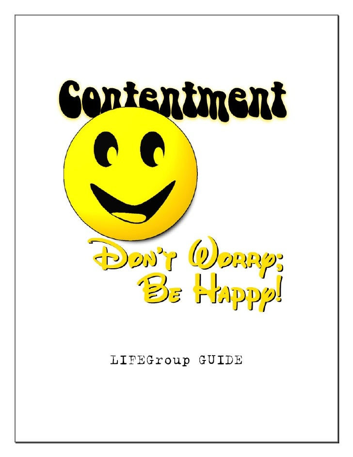 Contentment Life Group Guide