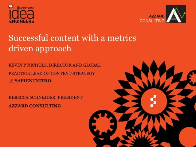 Successful content with a metrics driven approach