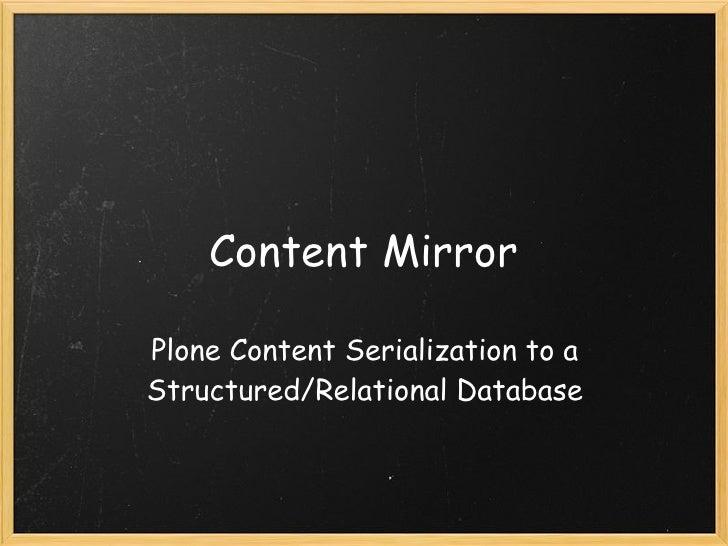 Content Mirror