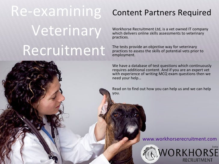 Content Partners Required Workhorse Recruitment Ltd, is a vet owned IT company which delivers online skills assessments to...