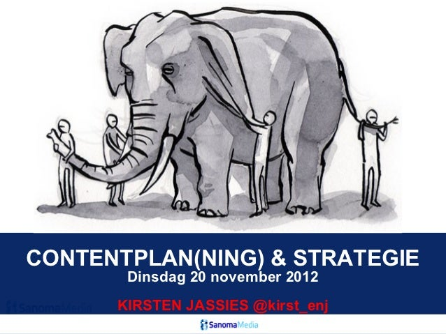 CONTENTPLAN(NING) & STRATEGIE       Dinsdag 20 november 2012      KIRSTEN JASSIES @kirst_enj