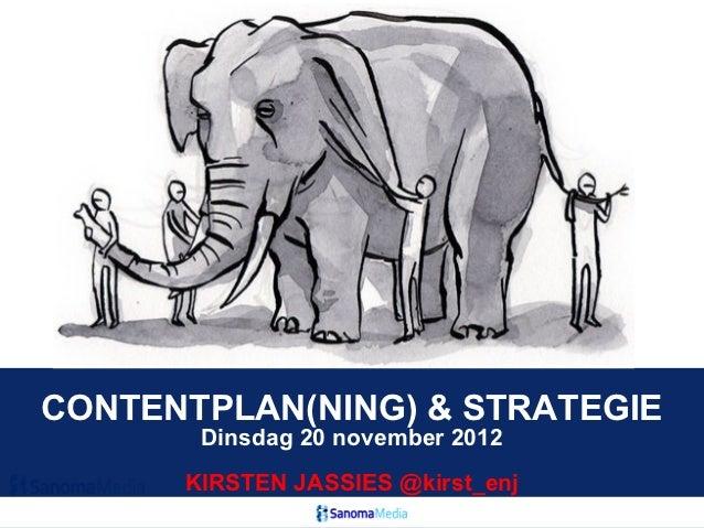 Contentplan(ning) voor redacties