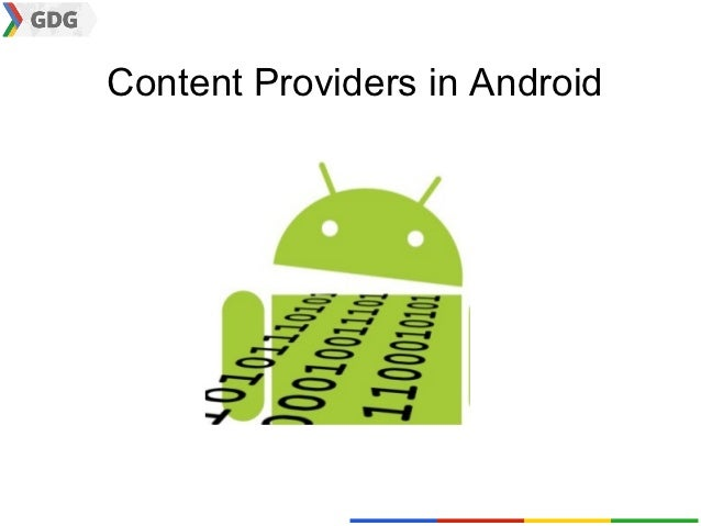 Content providers in Android