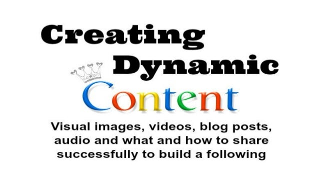 """What is Dynamic Content? """"a web page with web content that varies based on parameters provided by a user or a computer pro..."""