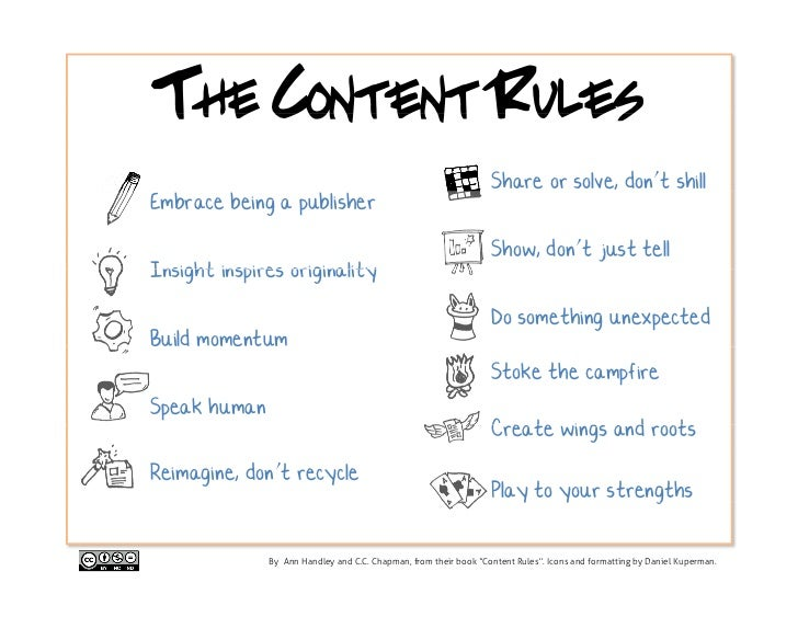 The Content Rules                                                                  Share or solve, don't shillEmbrace bein...