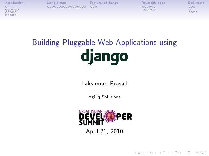 Building Pluggable Web Applications using Django