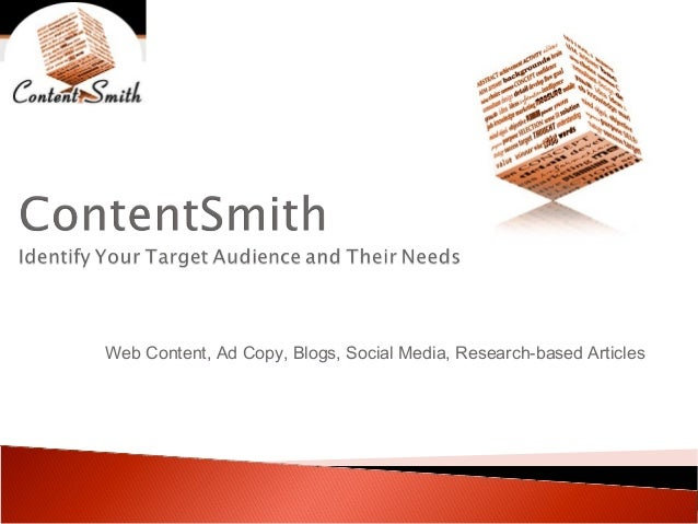 Web Content, Ad Copy, Blogs, Social Media, Research-based Articles