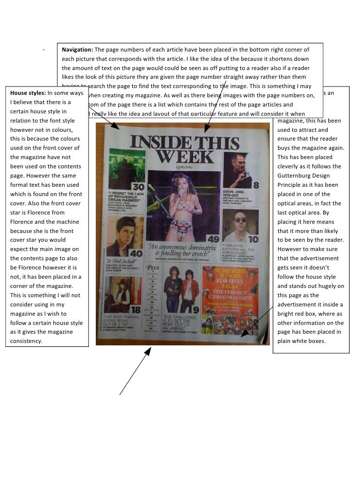 Navigation: The page numbers of each article have been placed in the bottom right corner of                     each pictu...
