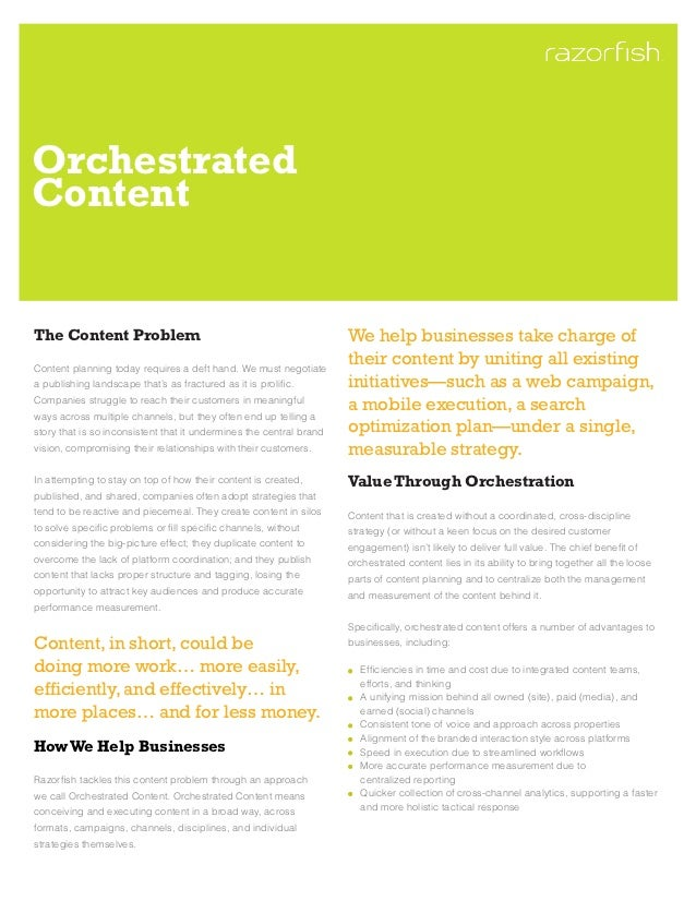 OrchestratedContentThe Content Problem                                                  We help businesses take charge ofC...