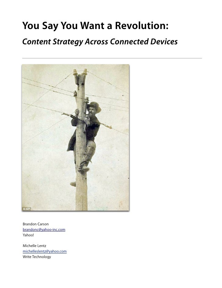 Content Strategy Across Connected Devices (DevLearn 2011)