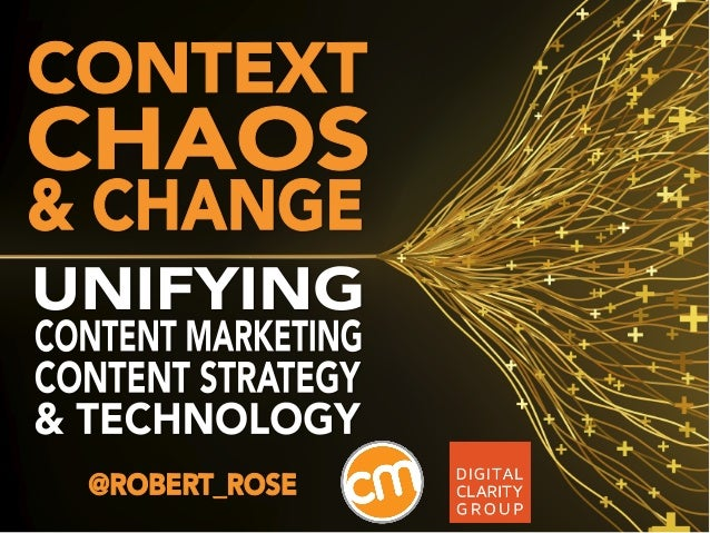1.Context: The overwhelmingbusiness case for contentstrategy in content marketingChaos: The Real World ofcontent marketing...