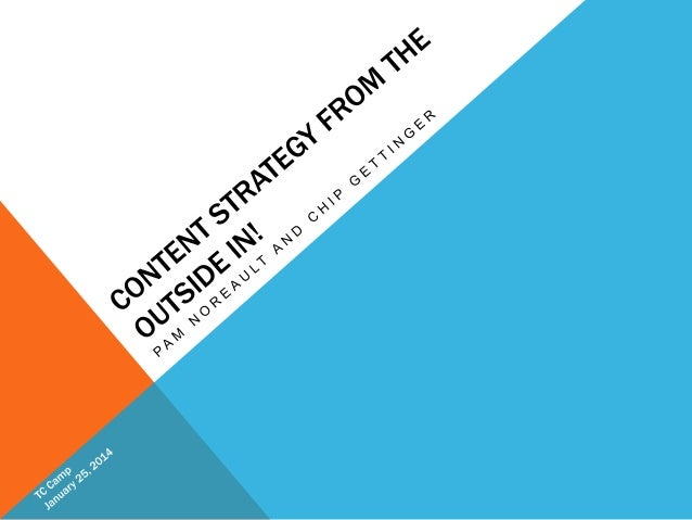 Content Strategy From the Outside In