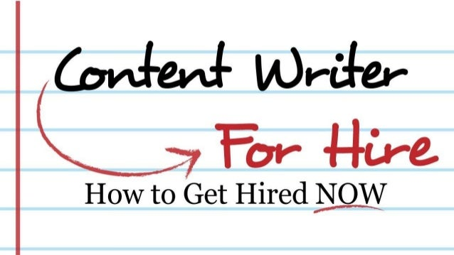 Content writer for hire