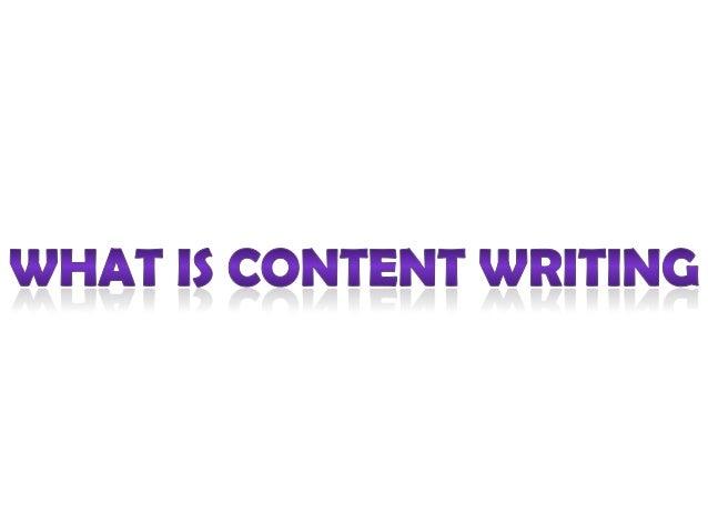 Content writing slideshare