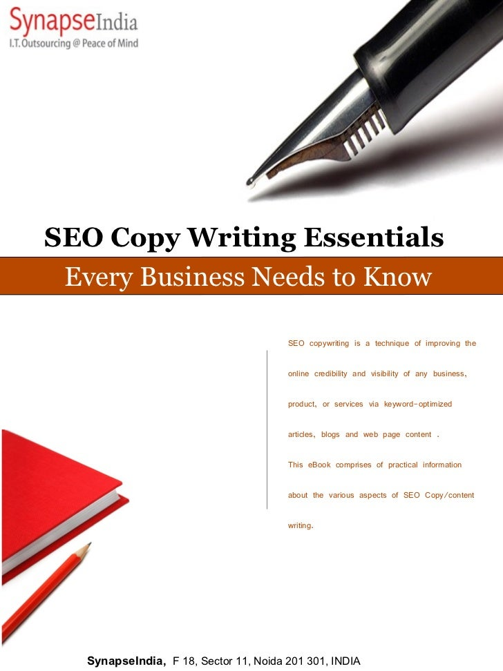 SEO Copy Writing Essentials  Every Business Needs to Know                                          SEO copywriting is a te...