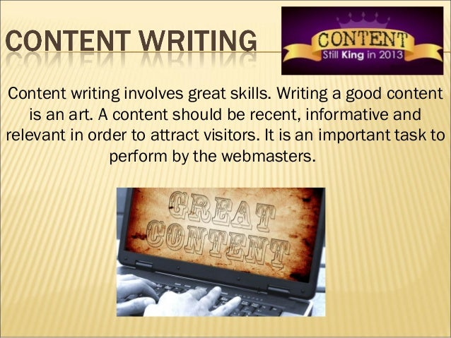 Content in writing
