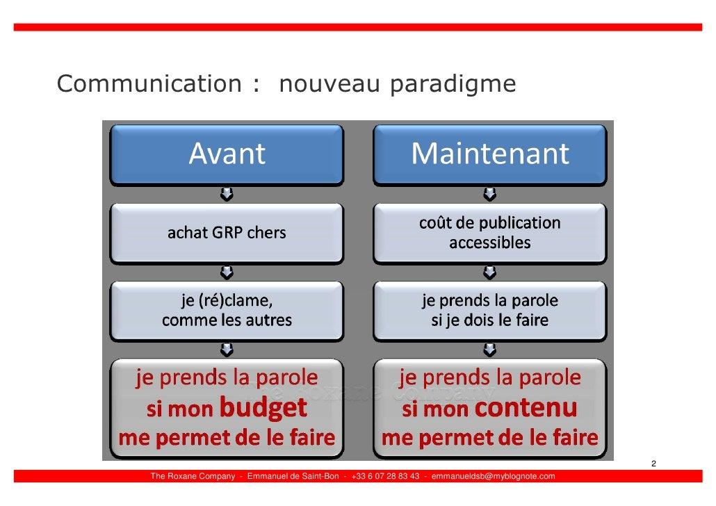 Communication : nouveau paradigme                                                                                         ...