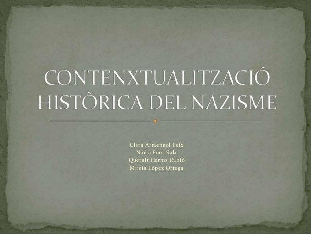 Contenxtualització històrica del nazisme