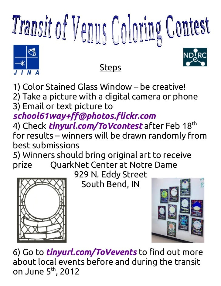 Transit of Venus Stained Glass Window Contest