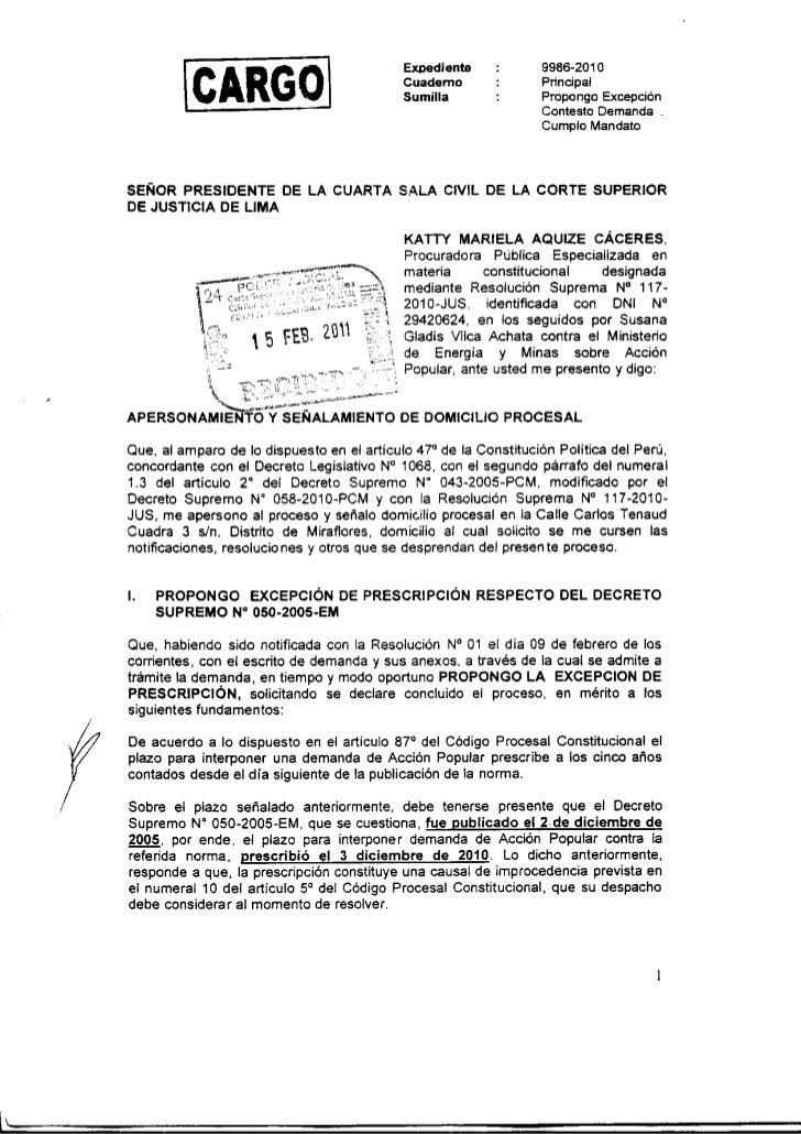 Recuperaci n del lote 88 contestacion a la demanda for Consulta demanda de empleo
