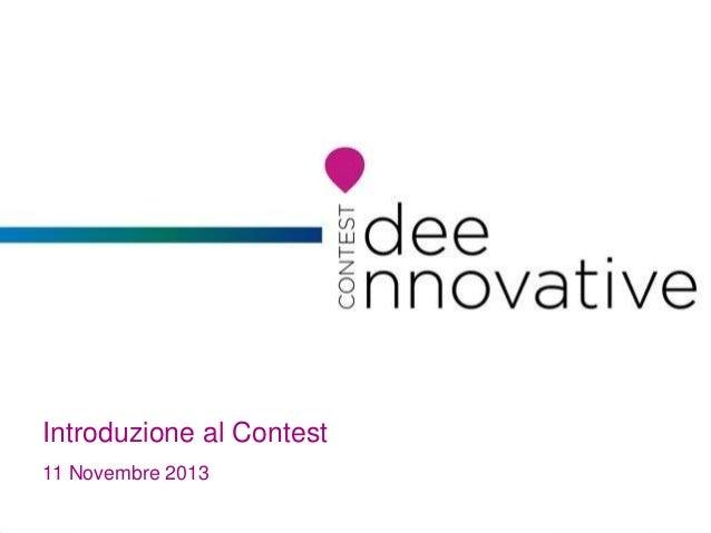 Introduzione al Contest 11 Novembre 2013