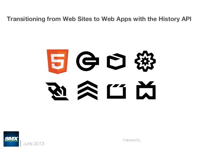 June 2013 Prepared By  Transitioning from Web Sites to Web Apps with the History API