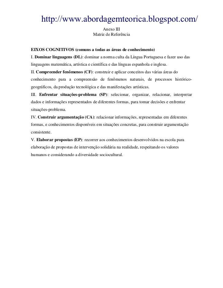 http://www.abordagemteorica.blogspot.com/                                         Anexo III                               ...