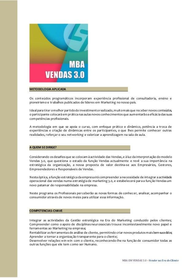 MBA VENDAS 3.0