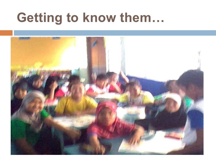 Getting to know them…