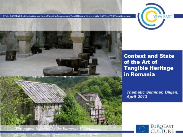 Context and state of the art of tangible heritage in romania