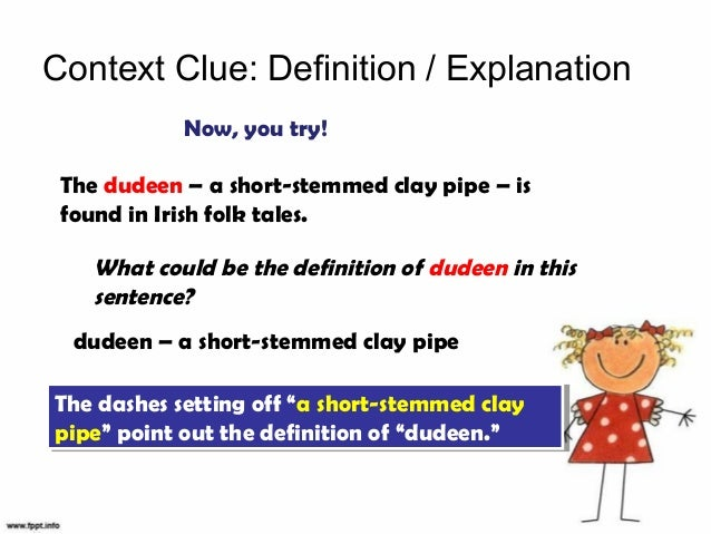 how to use context clues to define words