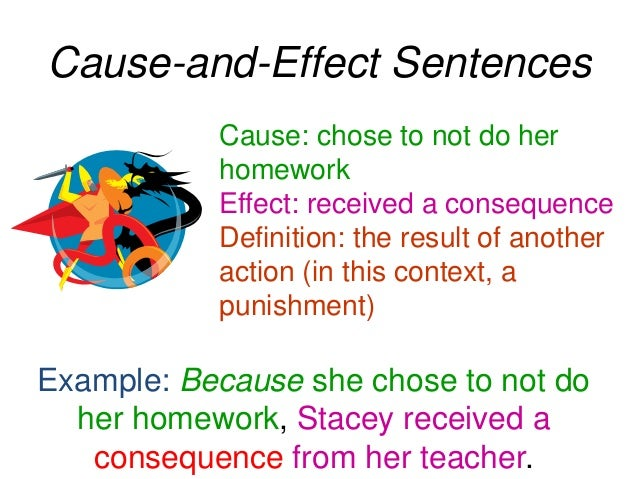 Cause And Effect Examples Sentences 13048 | NANOZINE