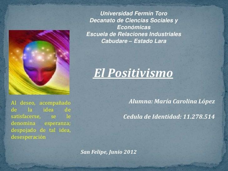 Universidad Fermín Toro                               Decanato de Ciencias Sociales y                                     ...