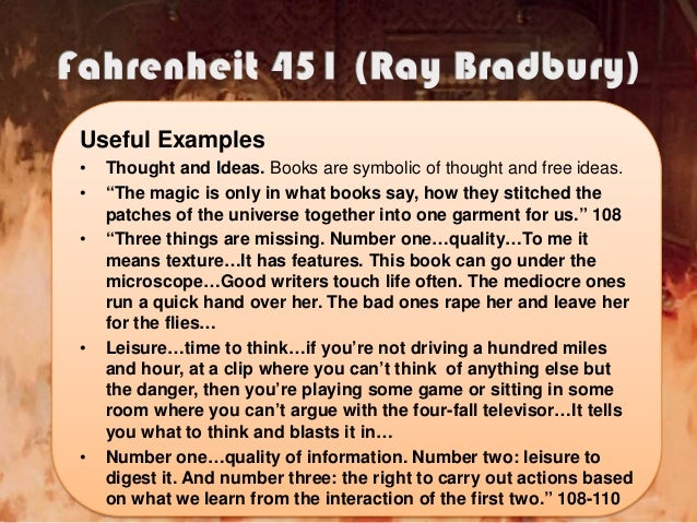 symbolism of the phoenix in fahrenheit 451 Finally the phoenix portions some close ties to faith the bible and jesus therefore it can be said that bradbury efficaciously uses the symbol and significance of the phoenix to stand for a sense of metempsychosis terminal of enduring and immorality within fahrenheit 451.