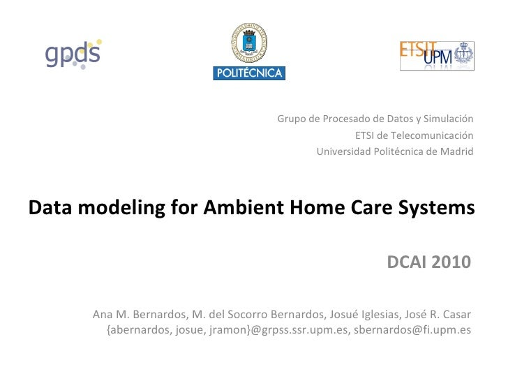 [CONTEXTS'10] Data modeling for ambient home care systems