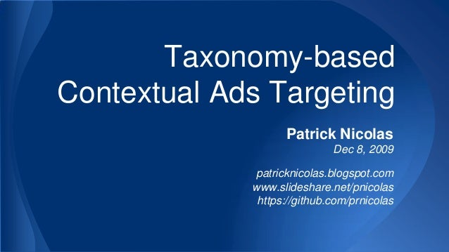 Taxonomy-based Contextual Ads Targeting