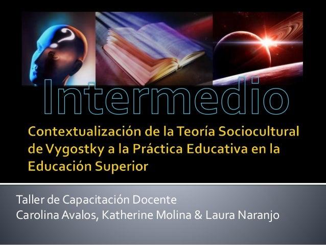 Contextualización de la teoría sociocultural de vygostky a