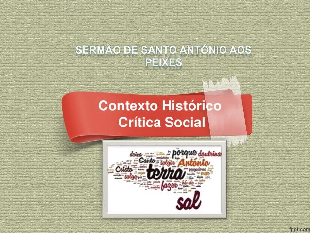 Contexto Histórico  Crítica Social