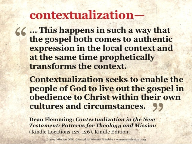 Quotes need to be contextualized or