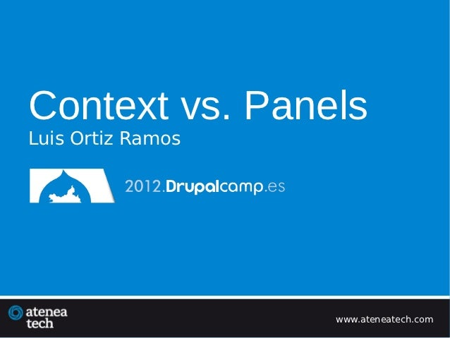 Context vs panels