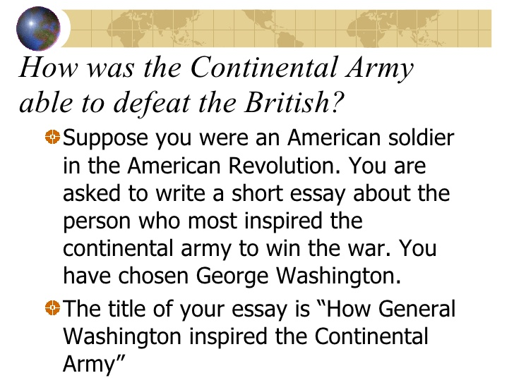 how america won the war essay