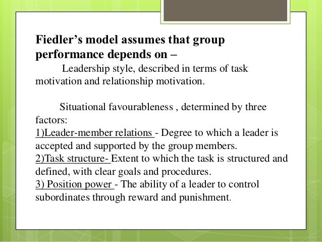 critically examine fiedler s contingency theory of leadership effectiveness